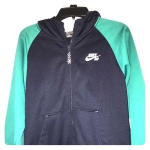 Boys Nike zip up hoodie
